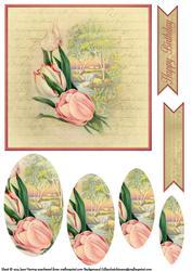 Vintage Flower Pyramage Topper 7