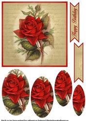 Vintage Flower Pyramage Topper 8