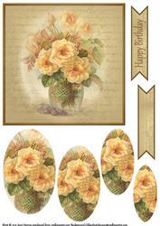 Vintage Flower Pyramage Topper 9