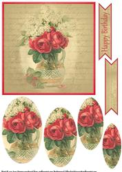Vintage Flower Pyramage Topper 10