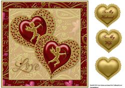 Jewelled Hearts 2 Quick Card