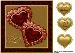 Jewelled Hearts 3 Quick Card