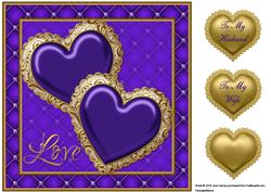 Jewelled Hearts 4 Quick Card