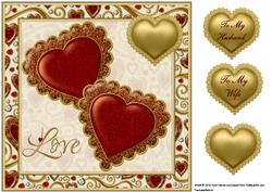 Jewelled Hearts 5 Quick Card