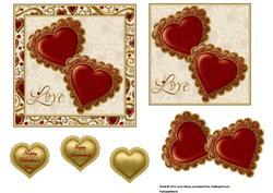 Jewelled Hearts 5