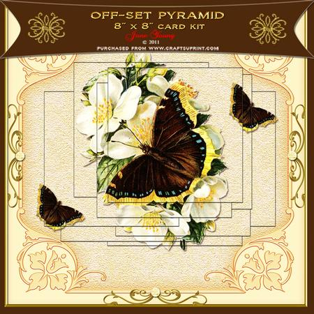 Off-set Pyramid - Brown & Yellow Butterfly