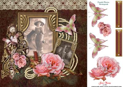 Victorian Lady /& Roses Decoupage 1 x A4 Sheet