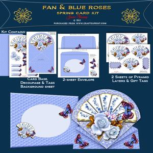 Blue Roses & Fan
