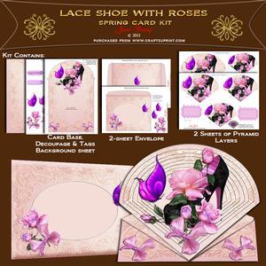 Lace Shoe & Roses