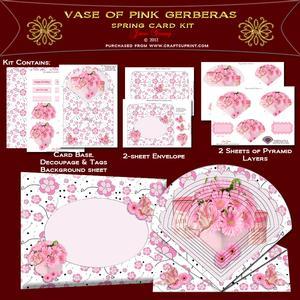 Vase of Pink Gerberas