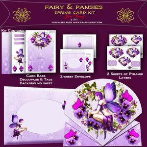 Fairy & Pansies