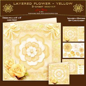 Layered Flower - Yellow
