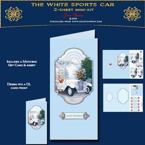 Dl Card - the White Sports Car