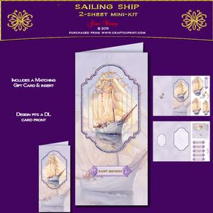 Dl Card - Sailing Ship
