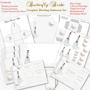 Butterfly Bride - Complete Wedding Stationery Kit