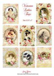 Victorian Ladies Tags