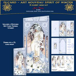 Dl Card - Art Nouveau Spirit of Winter