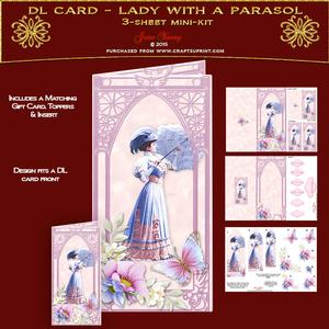 Dl Card - Lady with a Parasol