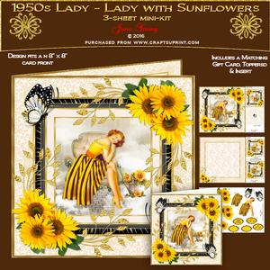 1950s Lady - Lady with Sunflowers