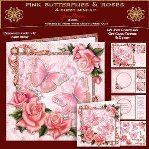 Pink Butterflies & Roses