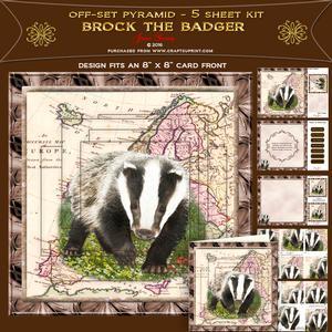 Off-set Pyramid Card - Brock the Badger
