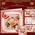 Peach Roses & Butterflies