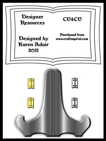 Book Card and Stand Templates