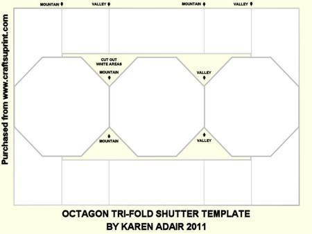 octagon tri fold shutter template cup230370 168 craftsuprint. Black Bedroom Furniture Sets. Home Design Ideas