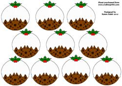 3D Christmas Pudding Tree Decoration