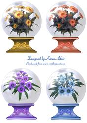 Just Daisies Snowglobe Toppers