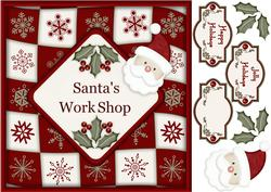 "Santa's Workshop - 8"" Square Card with Step by Step"