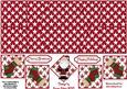 Whimsical Santa Double Diamond Fold Card