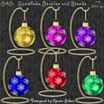 Snowflake Baubles and Hanging Stands