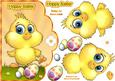 Easter Chick Scallop Card Front with Step by Step