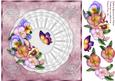 Pretty Pansies Square Card Front with Step by Step