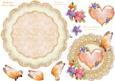 Peaches and Cream Wobble Card