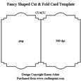 Fancy Shaped Cut & Fold Card Template