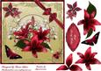 Luscious Red Lilies Square Card Front with Step by Step