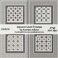 Square Lace Frames
