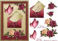 Antique Roses Letter Card Front