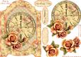 Vintage Roses and Clock Screen Card