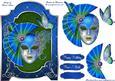 Masquerade Fan Screen Card