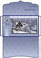 Snowy Christmas Cottage Money/gift Voucher Wallet