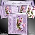 """Lilies and Lace in Lilac 8"""" Square Card Mini-kit"""