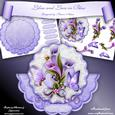 Lilies and Lace in Blue Scallop Wobble Card Mini Kit