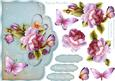 English Country Roses Scallop Card Front