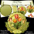 Spring Tulips Scallop Wobble Card Mini-kit