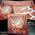 "Petunia Swan 8"" Square Card Mini-kit"