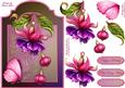 A Fuschia Fantasy Screen Card with Step by Step