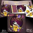 """Yellow Roses 8"""" Square Card Mini-kit"""